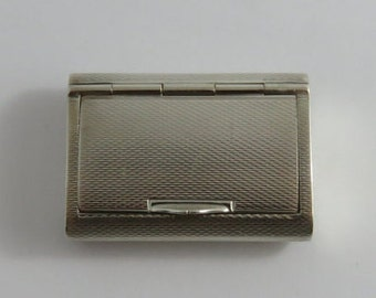 Sterling Silver Pill Box With Hinged Top