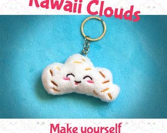 ITH kawaii clouds Bundle _ DIY cute adorable small plushies  _ EMBROIDERY machine needed