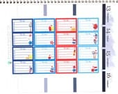 Happy Patriotic To Do List Half Box Stickers Erin Condren Life Planner ECLP Mambi Personal Kawaii Cute July Fireworks Red White Blue BBQ