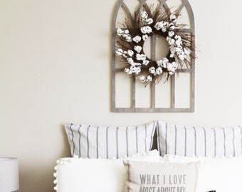 Large Vintage Church Style Window Frame