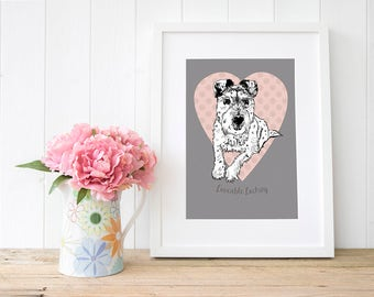 Custom pet wall art, rainbow bridge gifts, pet loss gifts, modern dog memorial, rainbow bridge gift, loss of a dog gifts, British dog artist