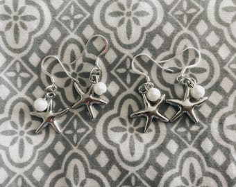 Starfish Pearl Earrings // Handcrafted Jewelry