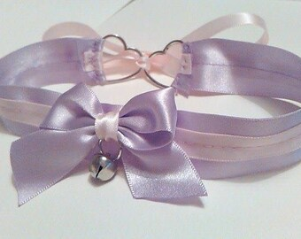 Lavender & Pink Collar with Bell Charm