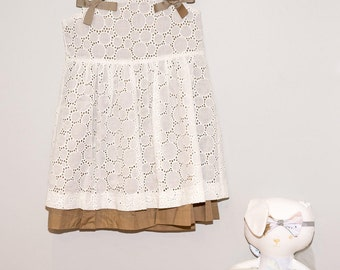 Broderie Anglaise Little Girls Dress