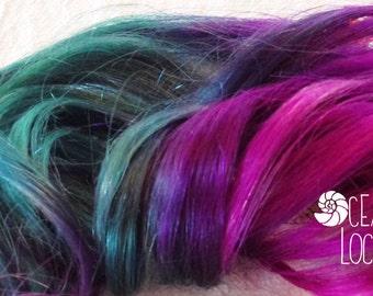 Purple Hair Extensions, Ocean Locks, Magenta Hair, Teal Hair, Extensions clip in, Ombre hair, Pastel hair extensions, Mermaid Hair
