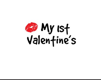 my 1st valentines svg dxf jpeg png file stencil monogram frame silhouette cameo cricut clip art commercial use
