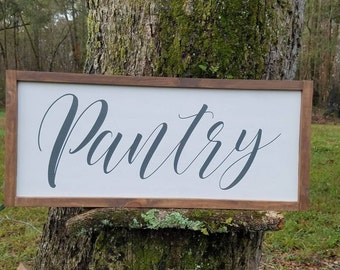"Pantry Wood Sign - Farmhouse Decor - Kitchen Decor - Rustic Signs - Wooden signs - Rustic Decor - 24""x12"""