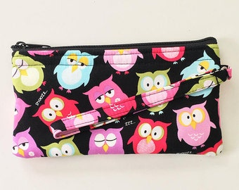 Owls Wristlet // Ready To Ship // Clutch // Wallet
