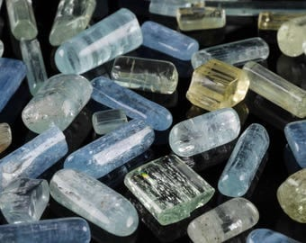 5g Small Tumbled Raw AQUAMARINE Crystals - Raw Crystal, Aquamarine Stone, Blue Crystal, Healing Crystal, Tumbled Gemstone Chakra Stone E0405