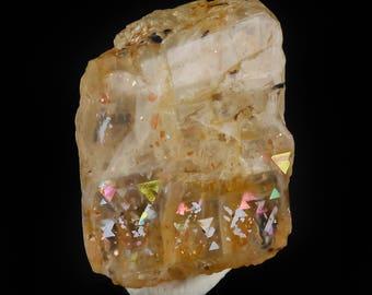 1.4cm RAINBOW LATTICE SUNSTONE from Australia - Rare Crystal, Sunstone Jewelry Making, Sunstone Cabochon, Sunstone Moonstone 36491
