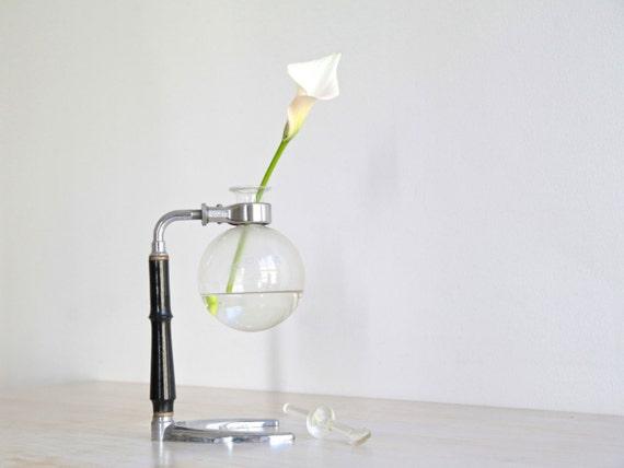 Glass Vase Coffee Maker : Vintage CONA Coffee Maker Bud Vase Industrial Home Decor