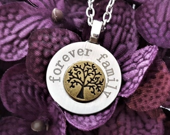 Family Tree Necklace, Forever Family Charm, Gifts for Mom, LDS Jewelry, Family Tree Charms, Eternal Family, Gifts for Grandma, Tree of Life