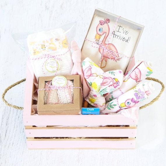 Baby Gift Basket Etsy : Baby girl gift basket organic clothes i ve arrived