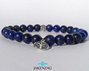 8mm Lapis lazuli Bracelet, Silver Bracelet, Gemstone Bracelet, Bead Bracelet Men, Lapis lazuli Jewelry, Mens Jewelry, Gifts for Him