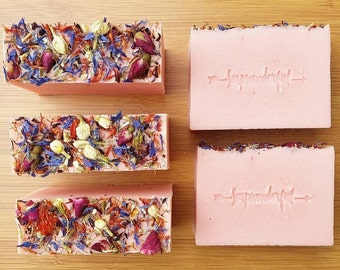 Flower Bomb Coconut Cream Cold Process Soap Bar