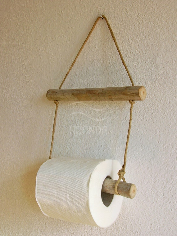 Porta rotolo carta igienica bagno muro parete appeso naturale - Porta carta igienica design ...