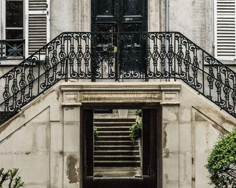 Paris Door Photo - Paris Photography - Urban - Shabby Chic - French Decor - Fine Art Photography  - Paris Living - 0005