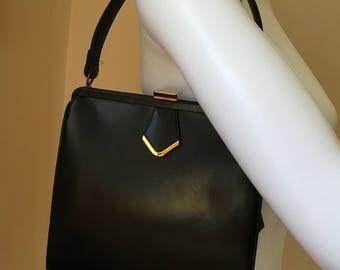 Vintage Coblentz Original Black Leather Handbag Purse