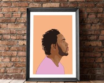 Kendrick Lamar, Poster Kendrick Lamar, Art, Posters and Prints, Kendrick Lamar Portrait, Kendrick Lamar Decor, Kendrick Lamar Poster, Art