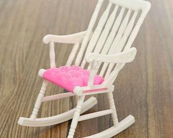Miniature rocking chair doll house chair mini furniture