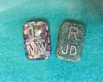 Rectangle Glitter Xray Markers