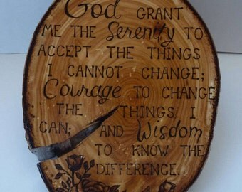 Home Decor Quotes Wooden Plaque Pyrography