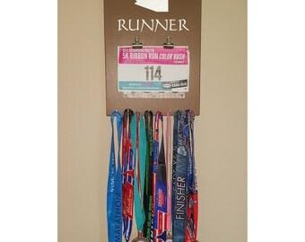 """Running Medal / Bib Holder/Hanger """"'Arizona' Runner"""""""