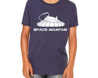 Youth Tee Space Mountain Shirt Disneyland Shirt Disney World Shirt  Tee Magic Kingdom Shirt