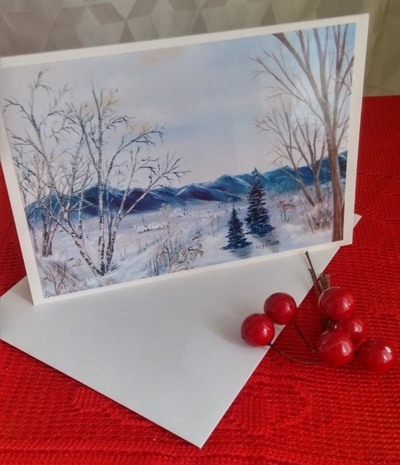 Map of Christmas/greeting Christmas/landscape of winter/mountain in winter/new year greeting / card nature in winter - CC-LP-0061