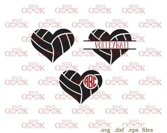 Volleyball SVG cut files, Volleyball Love svg, Volleyball Monogram svg cut files for Cricut and Silhouette, svg files