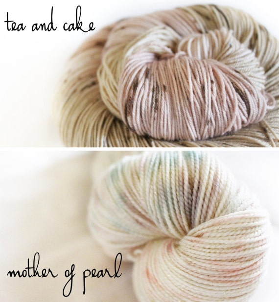 Bumblebee Shawl Kit Preorder- Tea and Cake and Mother of Pearl