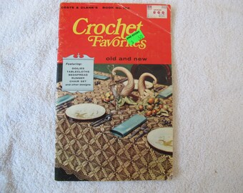 Crochet Favorites Old and New pattern book / Crochet patterns doilies, tablecloths, bedspreads, runners, chair covers