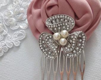 Silver Hair Comb, Crystal hair Comb, Rhinestone Hair Comb, Art Deco Hair Comb, Small Comb, Bridal Hair Comb, Vintage Comb, Wedding Hair Comb