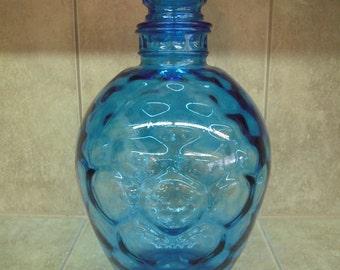Vintage Cobalt Blue Glass Decanter