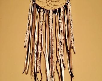 Leather Wrapped Dream Catcher