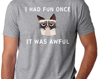 Grumpy Cat T-Shirt Funny Internet Meme T-Shirt Cat T-Shirt