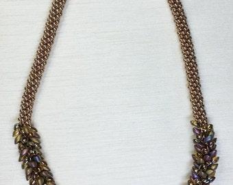 Gold Iris Iridescent Necklace