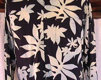 Mr. Mister Silk Long sleeve tropical (Matisse-like! Check him out.) Shirt