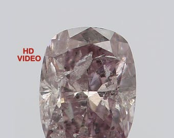 0.12 Ct Natural Loose Diamond Cut Oval Shape Pink Intense Color 3.50X2.60X1.65 MM N2632