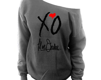 The Weeknd Clothing | slouchy sweatshirt | xo the weekend shirt | drake sweatshirt | the weeknd xo | weeknd shirt | gift for her