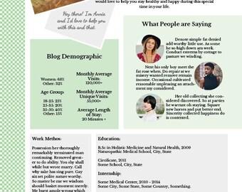 Media Kit Template with Customization -- Mint