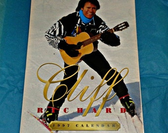 Cliff Richard Oliver Books 1997 Calendar Music Memorabilia Collectable British Singer A3 Size 12 Month Full Page Photos Vintage Bachelor
