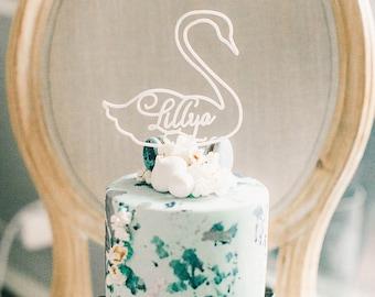 Swan Cake Topper Etsy