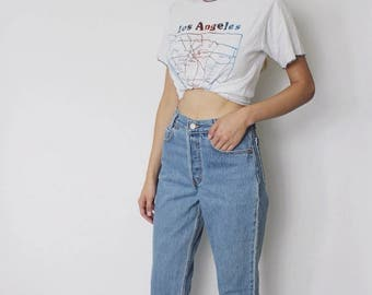 Vintage Levi's 501 Denim Jeans 25.5 | Levis 501 High Waist Denim Jeans | Medium Blue Denim Jeans