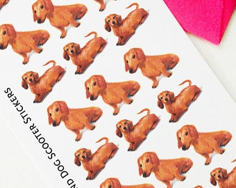 Dachshund Dog Stickers, Planner Stickers, Weekly Sticker, Art, Erin Condren, Kawaii Puppies, Cute Dog Stickers