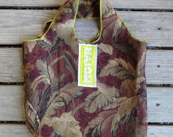 Upcycled / Zero Waste / Reusable Shopping Bag / Reusable Grocery Bag / Reusable Bag / Tote Bag/ Farmers Market Bag/ Carpet Bag