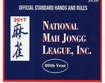 National Mah Jongg League 2017 Card - Official Hands and Rules