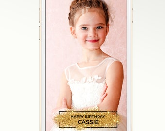 DIY Snapchat GeoFilter for Birthday Party or Wedding | Enter Your Details | We Customize for You | Ready in 24 hours | Perfect Gift