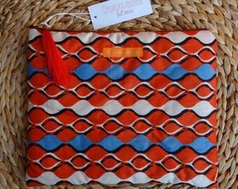 """Large padded Pocket """"Waves & Tandoori"""""""
