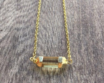 Citrine Point Necklace - Crystal Necklace
